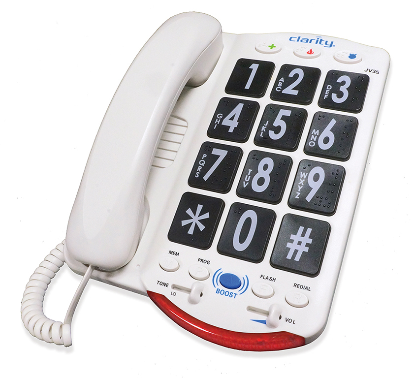 Phone with Braille Characters